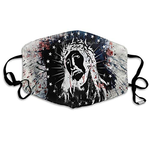 Hateone Unisex Unique Mouth Mask - Indian Funny Style Art Polyester Anti-dust Masks - Fashion Washed Reusable Face Mask for Outdoor Cycling
