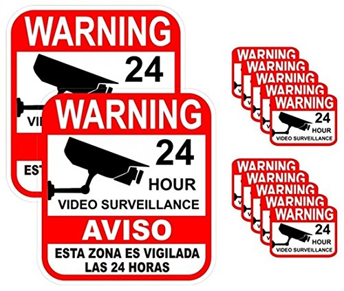 12-Pcs Fiduciary Modern Warning Sticker Decal Signs Anti-Burglar Property Protected Window Reflective 2-Large (Steampunk Superheroes)