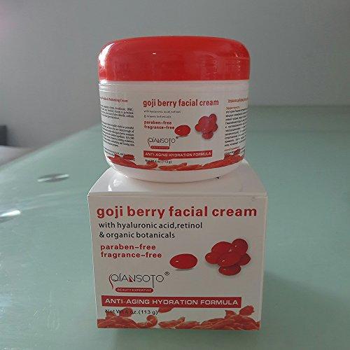 Goji Berry Anti Aging Hydration & Nourishing Face Facial Cream(4oz, 113g), Anti Wrinkles & Moisturizing Facial Cream