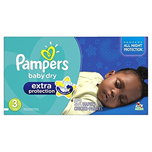 Pampers Baby Dry sz 3, 92 ct (Old Version)
