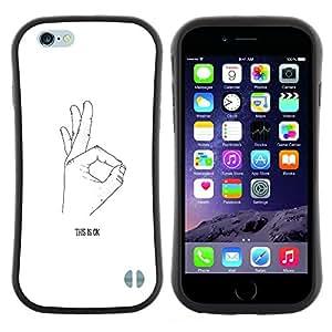 "Hypernova Slim Fit Dual Barniz Protector Caso Case Funda Para Apple (4.7 inches!!!) iPhone 6 / 6S (4.7 INCH) [Ok Mano Señal Firmar Blanco Negro minimalista""]"