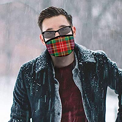Dust Mask Caledonian Tartan Pattern Fashion Anti-dust Reusable Cotton Comfy Breathable Safety Mouth Masks Half Face Mask for Women Man Running Cycling Outdoor
