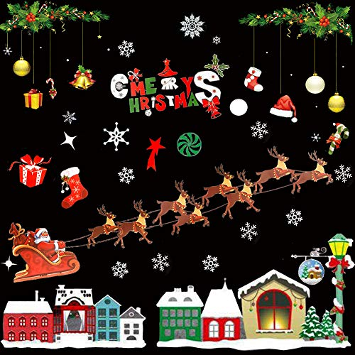 Taken All Christmas Decorations - Christmas Window Clings Decal Stickers,Christmas Winter Wonderland Decorations Ornaments Party Supplies (809H58)
