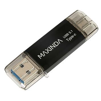 MAXINDA 16GB/32GB/64GB Pendrive / Memoria USB 3.1 OTG Type C (Tipo C) con Carcasa Aluminio y Elegante para Android Smartphone con la Interfaz Type-C y ...