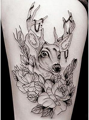 DFLY - Adhesivos de tatuaje para tatuaje, diseño de cabeza de ...