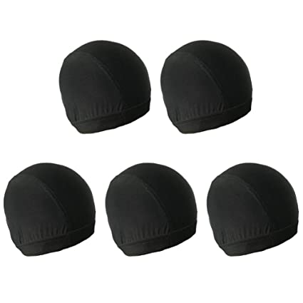 Minkissy Gorras de peluca de extremo cerrado, 5 piezas de gorro de ...