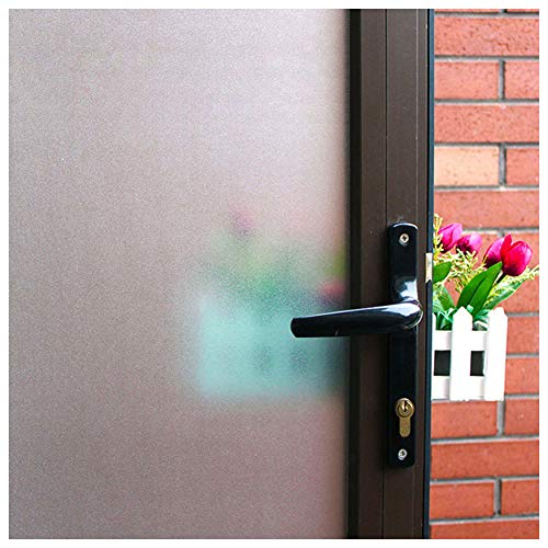 Mikomer Frosted Window Film,Privacy Static Cling Glass Door Film,Removable Stained Glass Anti UV Window Cling for Bathroom,Office,Meeting Room,Bedroom Security and Decoration,35 inches by 78.7 inches