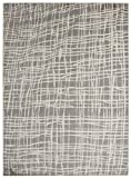 "Diagona Designs Contemporary Abstract Geometric Stripes Design Modern 8' X 10' Area Rug, 94"" W x 118"" L, Gray/Ivory (JAS2203)"