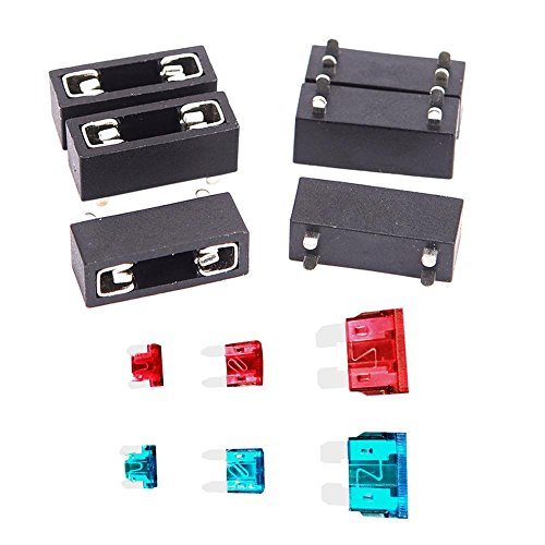 6pcs Car Fuse Kit Automotive Blade Fuse Holder Assorted Car Auto Motor Replacement Fuse ()