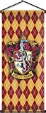 Nordic Souvenirs Harry Potter Style Banner - Gryffindor Flag 43in x 18in Wall Scroll - Ready to Hang - Perfect Barware Man Cave Gift - Unique HP Collectible Accessories