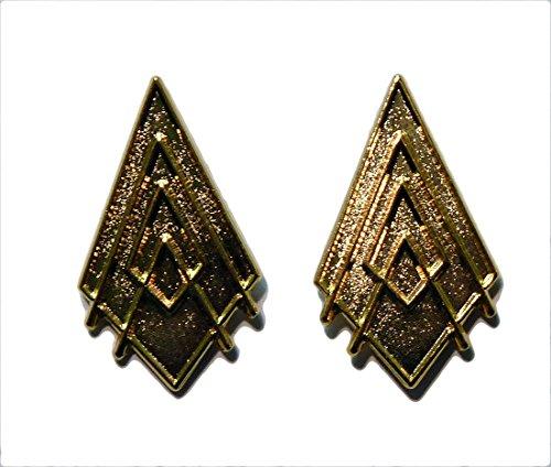 [Battlestar Galactica Captain Gold Collar Rank Pip Set of 2] (Galactica Costumes)