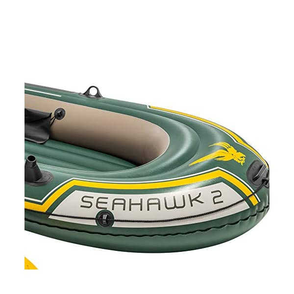 51h%2Bm8UunrL Intex Seahawk 2 Set Schlauchboot - 236 x 114 x 41 cm - 3-teilig - Grün & Motor Mount Kit - Außenbordmotorbefestigung…