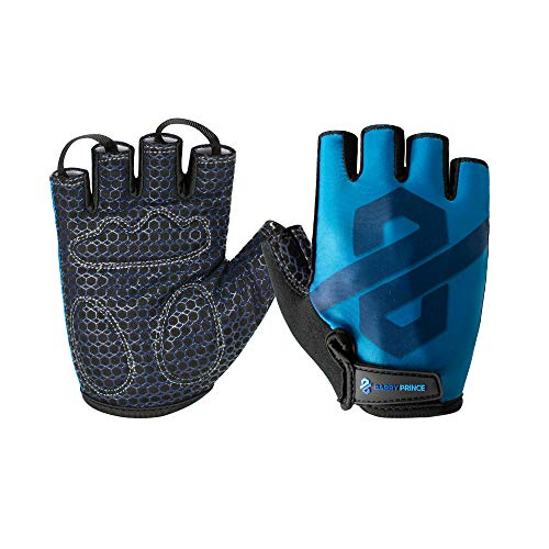 Barry Prince Weight Lifting Gloves (Unisex) Flexible, Breathable Comfort | Crossfit, Fitness, Exercise, Training, Powerlifting, Gym Workout Gloves | Adjustable Wrist Strap, Padded Grip | Men, Women