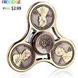 Fidget Spinner,MMTX Tri Fidget Spinner Fast Bearings Finger Spinner Hand Spinner Toy for Killing Time,Relieves Stress and Anxiety Great Gift for Chlidren and Adults (Yellow)