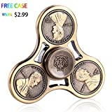 Fidget Spinner,MMTX Tri Fidget Spinner Fast Bearings Finger Spinner Hand Spinner Toy For Killing Time ,Relieves Stress And Anxiety Great Gift for Chlidren and Adults (SJblue)