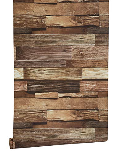 Blooming Wall Barnwood Wood Panel Wood Plank Wallpaper Wall Mural for Livingroom Kitchen Bathroom Bedroom,20.8