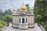 Posterlounge Alu Dibond 180 x 120 cm: Pavilion, Linderhof Castle by Editors Choice