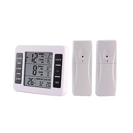 Topker Termómetro digital para interiores / exteriores Medidor de temperatura inalámbrico 0 ℃ -50 ℃