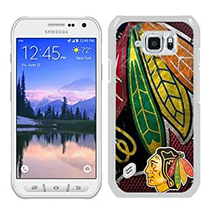 Unique Samsung Galaxy S6 Active Skin Case ,Chicago Blackhawks White Samsung Galaxy S6 Active Cover Fashionable And Durable Designed Phone Case