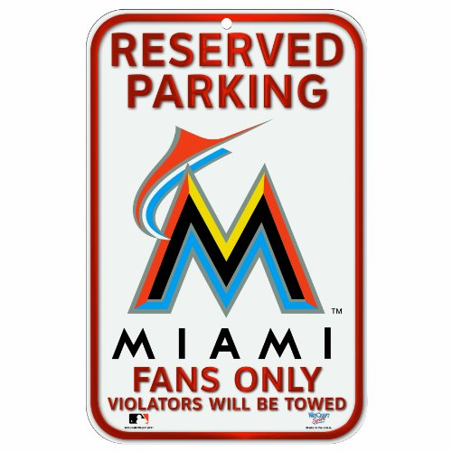 MLB Miami Marlins 11-by-17 Inch Sign