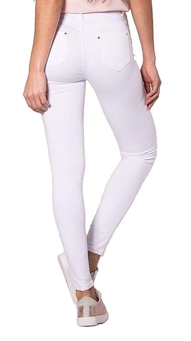 Nina Carter Mujer Vaqueros Slim, Skinny Pantalones Jeans Destroy Rotos en Las Rodillas Talla 34 a 42: Amazon.es: Ropa y accesorios