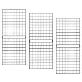 Econoco PGP25B Portable 2' x 5' Black Grid Panels - Pack of 3