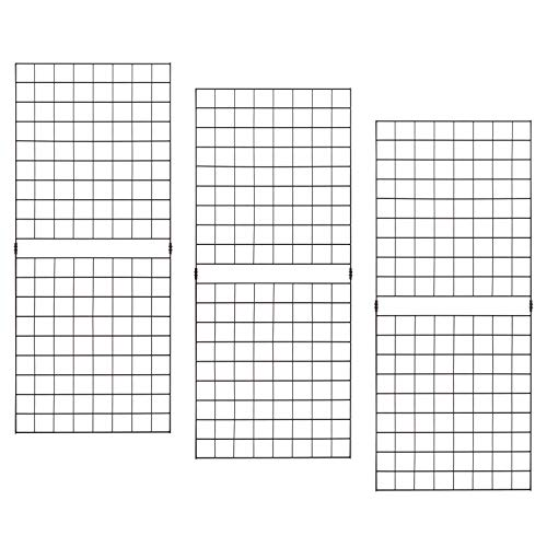 Econoco PGP25B Portable 2' x 5' Black Grid Panels-Pack of 3, 2 ft ft (5' Cubicles)