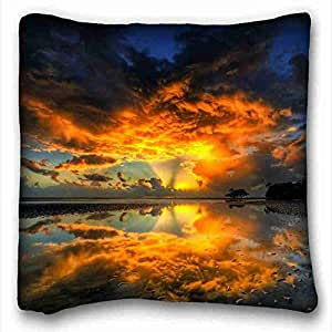 Custom Cotton & Polyester Soft Nature Custom Zippered Pillow Case 16x16 inches(one sides) from Surprise you suitable for Full-bed