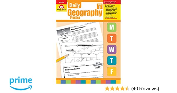 Daily Geography Practice Grade 6 0023472037152