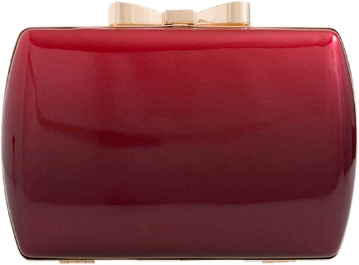Girly Handbags Womens Glossy Hard Case Clutch Bag