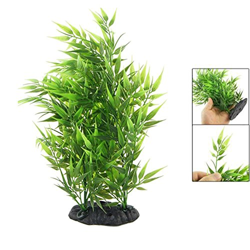 Decorative Artificial Grass - Green Bamboo Leaves Shaped Decorative Artificial Grass - Christmas Fall Skysea Garden Tulip Decor Poinsettia Fabric Bambu Fern from Number onE