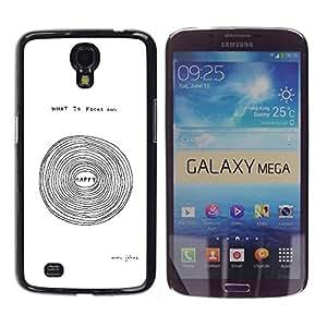 """Pulsar Snap-on Series Teléfono Carcasa Funda Case Caso para Samsung Galaxy Mega 6.3 , Feliz texto de motivación inspiradora Blanca"""""""