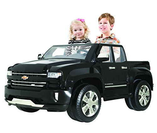 51h%2Bp1xA2IL - Rollplay 12V Chevy Silverado Truck Ride On Toy, Battery-Powered Kid's Ride On Car - Black