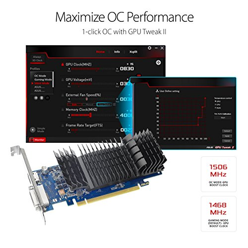 ASUS GeForce GT 1030 2GB GDDR5 HDMI DVI Graphics Card (GT1030-2G-CSM) by Asus (Image #2)