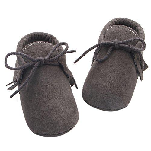Etrack-OnlineMoccasins - botas sin cordones para niño gris oscuro