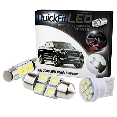 QuickFitLED White LED Interior Light Package Kit For Honda Ridgeline 2006-2014 (19pcs) (Honda Shine compare prices)