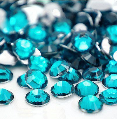 (Beading Station 1440-Piece BSI Flat Back Brilliant 14-Cut Round Rhinestones, 3mm-10ss, Turquoise)
