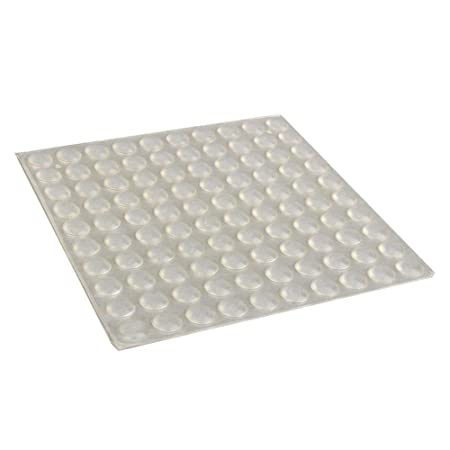 GOTOTOP 100Pcs Self-Adhesive Silicone Feet Semicircle Bumpers Door Furniture Pad 8x2.5mm