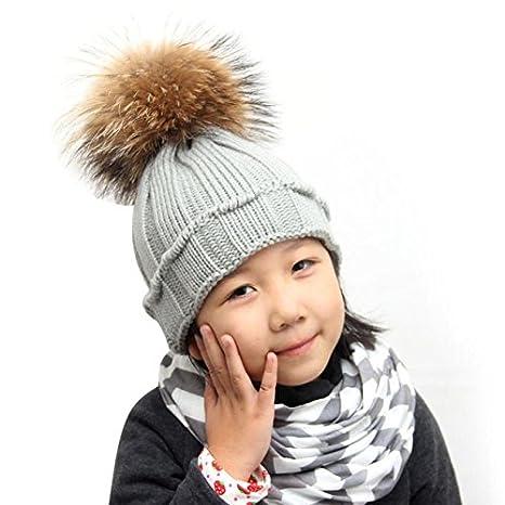 501acc33a5336a Buy Generic Black : baby hats Acrylic hair curling wooden ear Cap boy girl  hats raccoon Winter Raccoon Fur Hats Knitted Hemming Solid boy girl caps  Online ...