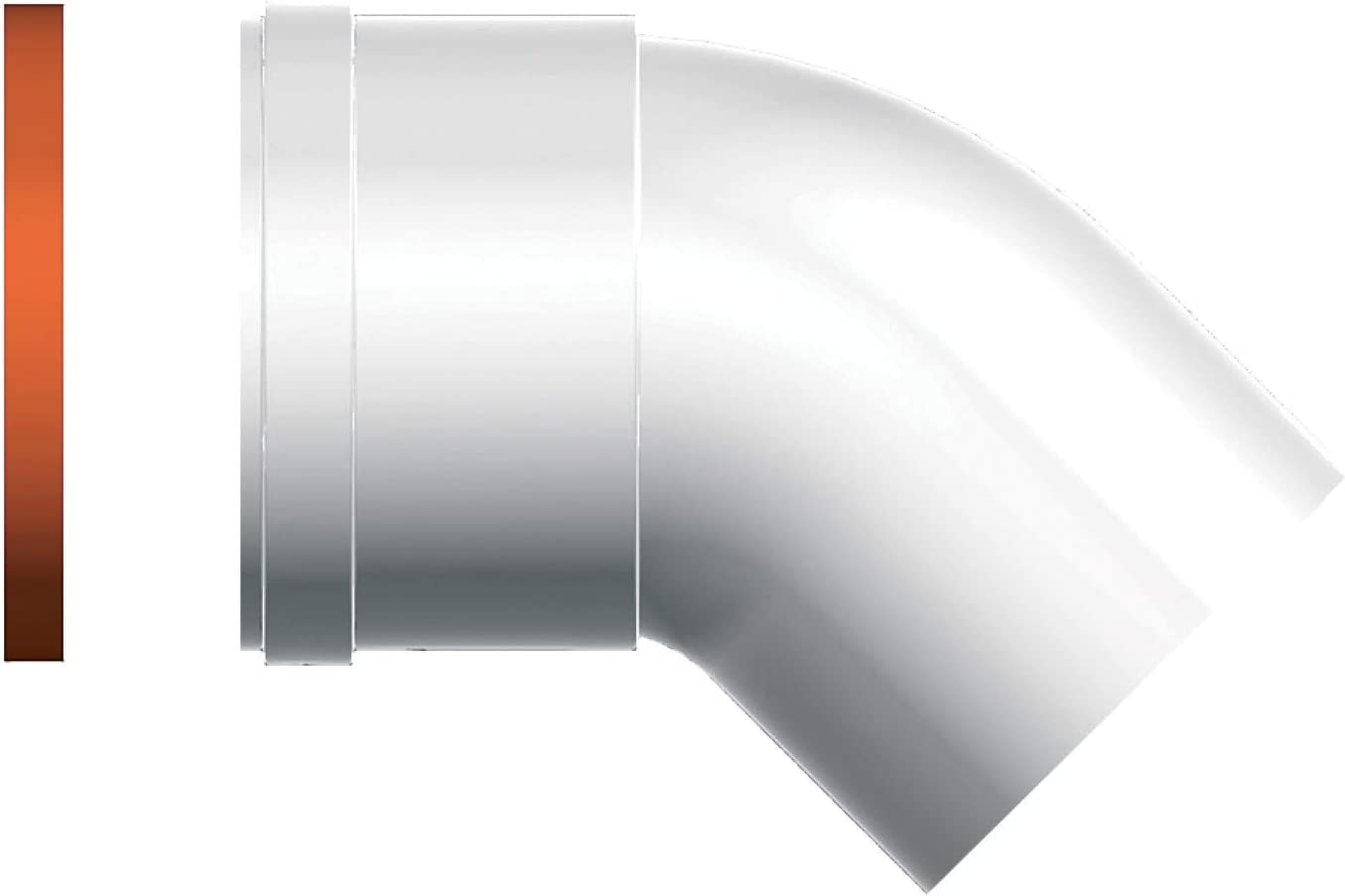 Ariston 3318085 Curva MF Ariston Para Las Calderas de Condensación, Diámetro de 80 a 45°, 2 Unidades
