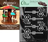Cybrtrayd Tractor Lolly Chocolate Candy Mold with Chocolatier's Guide Instructions Book Manual