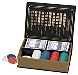 Two's Company 51774 Poker Set Includes Chips, 3 Buttons, Playing Cards