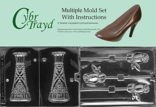 - Cybrtrayd BUN-F015F026 2-Piece Vase and Long Stem Roses Chocolate Molds