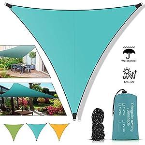 51h%2BqonyMEL. SS300 Molbory Sonnensegel Dreieckig mit Befestigungsseile 4x4x4 m, Sonnensegel Sonnenschutz UV Schutz Windschutz Wetterschutz…