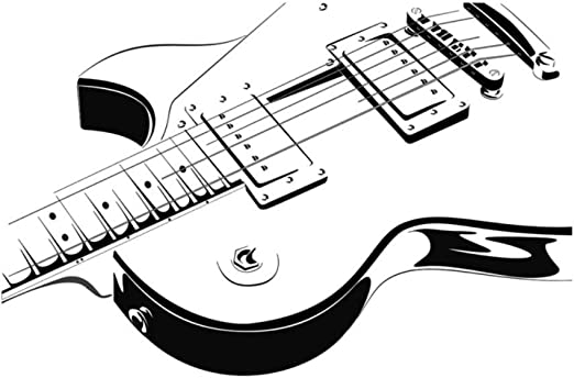 Guitarra Eléctrica Etiqueta de La Pared Arte Vinilo Autoadhesivo ...