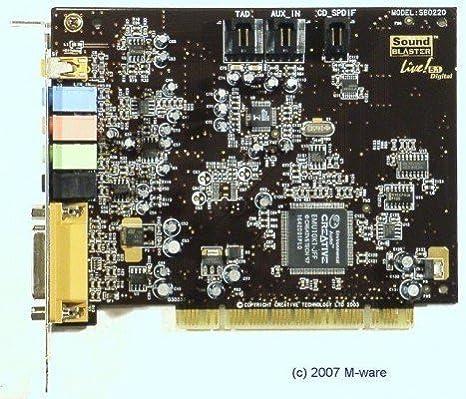 CREATIVE PCI Tarjeta de Sonido sb0220 SB Live. SPDIF # 2404 ...