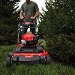 Craftsman M410 190cc Briggs & Stratton 875 Professional Series 28-Inch 2-in-1 Self-Propelled RWD Gas Powered Lawn Mower 6 POWERFUL 190CC OHV GAS ENGINE: Powerful Briggs & Stratton engine equipped with recoil and ready start-just pull to start! 2-IN-1 CAPABILITIES: Unit can mulch and side discharge. REAR WHEEL DRIVE: Provides more traction and the ability to operate over hilly terrain.