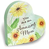 Best Edge Mom Plaques - Cathedral Art Amazing Mom Heart Decorative Plaque, One Review