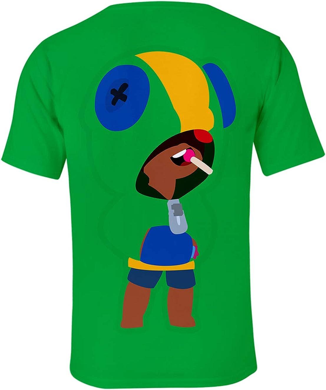 Siennaa Casual Bambini Maglietta Brawl Stars Maniche Corte Maglia con Stampa 3D,Estate Camicia Camicetta T-Shirt Tops Tee Blusa Maglietta da Ragazzo Ragazza