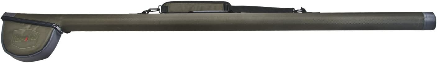 2-Piece Adamsbuilt Fly Tailwater Rod Case with Pouch Green 62-Inch